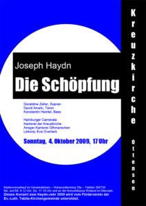 Archiv, Konzertplakat, Johann-Sebastian-Bach-Chor Hamburg Haydn Die Schöpfung